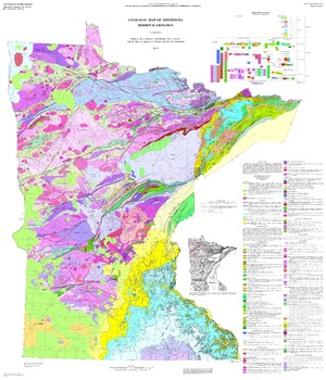S 21 Geologic Map Of Minnesota Bedrock Geology