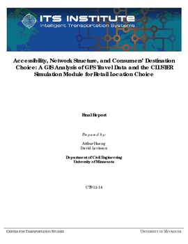 Accessibility, Network Structure, and Consumers' Destination Choice