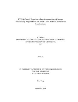 FPGA-based hardware implementation of image processing algorithms