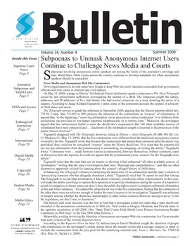 Bulletin Summer 09 final indd