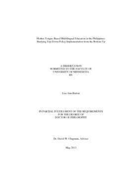 Multilinguism phd dissertation