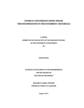 multiferroic thesis From conclusive many well known multiferroic materials (bimno3, lamno3, and bifeo3 for example) have the perovskite structure this requires a different mechanism for ferroelectricity than the suggested model theoretical research has shown that multiferroic materials are not inherently impossible with known mechanisms.