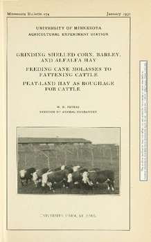 Grinding shelled corn, barley and alfalfa hay  Feeding cane molasses