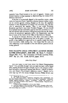 Book Review The Naacp S Legal Strategy Against Segregated Education 1925 1950 By Mark V Tushnet