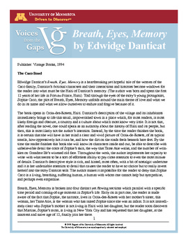 breath eyes memory essays Breath eyes memory essay - online paper writing company - get help with professional essays, term papers, reports and theses for me cheap essaysophies journey toward freedom in breath, eyes, memory the novel breath, eyes, memory, by edwidge danticat, is a bildungsroman.