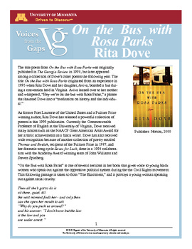 review of on the bus rosa parks by rita dove thumbnail