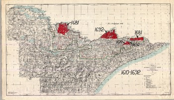 Bwca Fire Map.Area Burn Map Series Annotated By Miron Heinselman