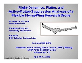 Flight-Dynamics, Flutter, and Active-Flutter-Suppression