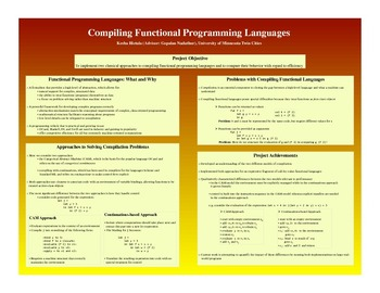 A COMPARISON OF APPROACHES TO COMPILING FUNCTIONAL