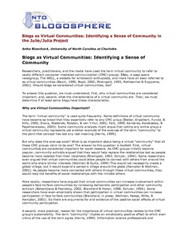 vitual communities