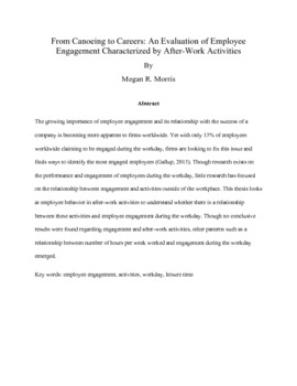 Dissertation proposal service on employee engagement