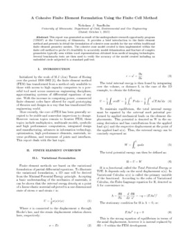 A Cohesive Finite Element Formulation Using the Finite Cell