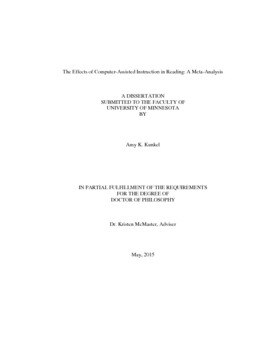 thesis about computer assisted instruction