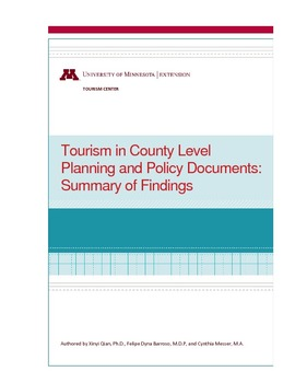 tourism policy planning