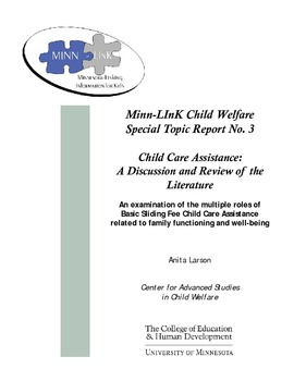 Report Family Well Being Education >> Child Care Assistance A Discussion And Review Of The Literature An
