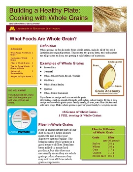 building a healthy plate cooking with whole grains parent