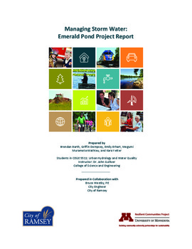Managing Storm Water: Emerald Pond Project Report