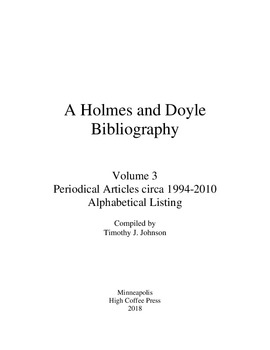 a holmes and doyle bibliography