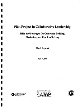 Pilot Project in Collaborative Leadership: Skills and Strategies for