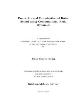 Prediction and Examination of Rotor Sound using