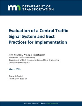 Evaluation of a Central Traffic Signal System and Best