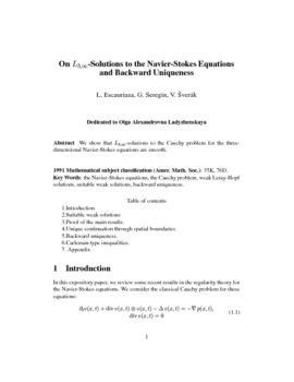 On L 3,Infinity-solutions to the Navier-Stokes equations and