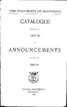 CATALOGUE ANNOUNCEMENTS on