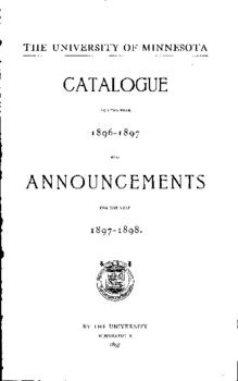 CATALOGUE ANNOUNCEMENTS