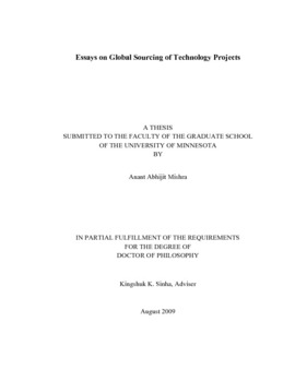 Thesis Example Essay Thumbnail Health Essays also Sample Argumentative Essay High School Essays On Global Sourcing Of Technology Projects Thesis For Argumentative Essay Examples