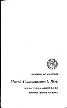 March Commencement, 1970