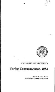 Spring Commencement, 1983