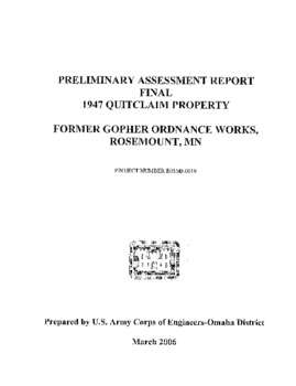 Preliminary Assessment Report, Final 1947 Quitclaim Property